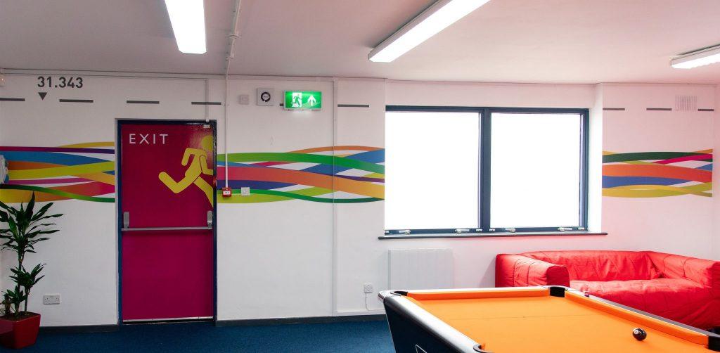 Woking interior staff area
